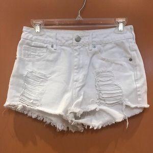 Kendall & Kylie PacSun distressed wht shorts Sz 5